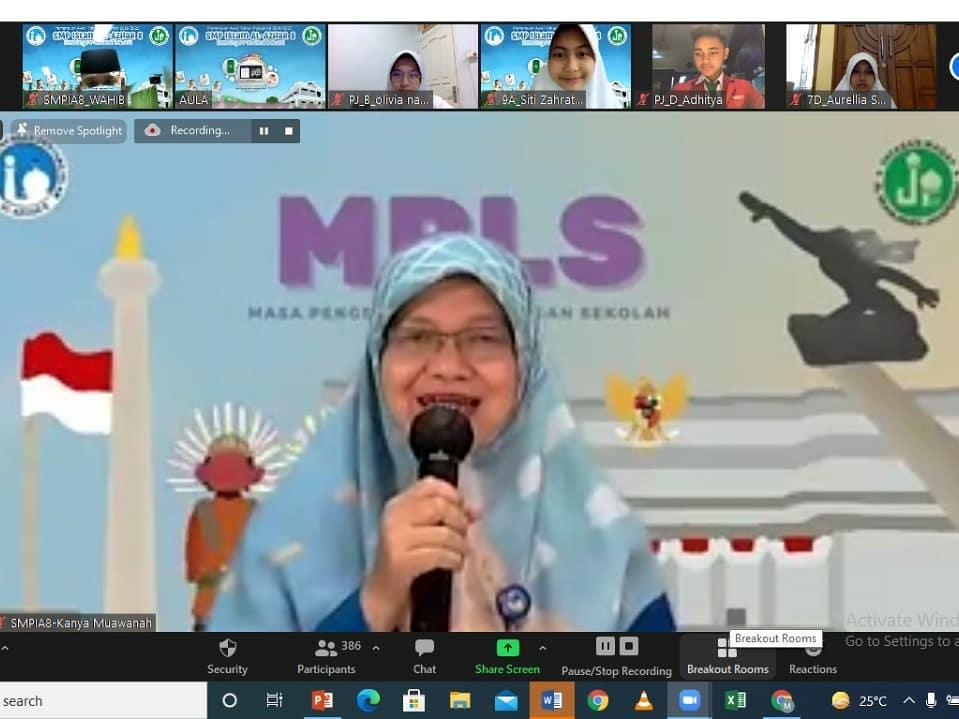 MPLS (Masa Pengenalan Lingkungan Sekolah) di SMP Islam Al Azhar 8 Bekasi.